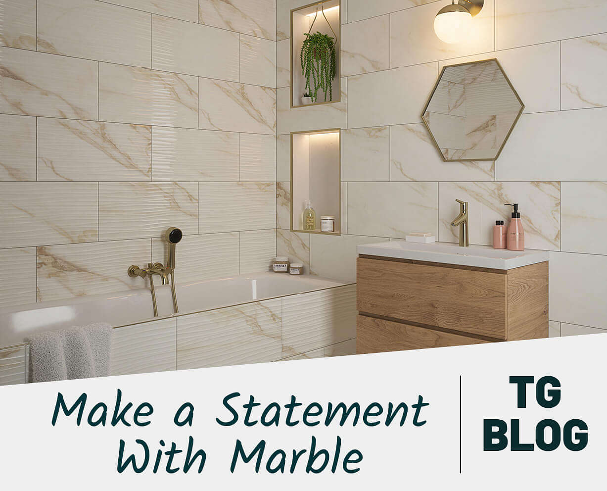 Make a Statement with Marble Effect Tiles