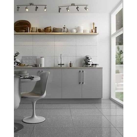 Mirror Grey Quartz Tile 600x600