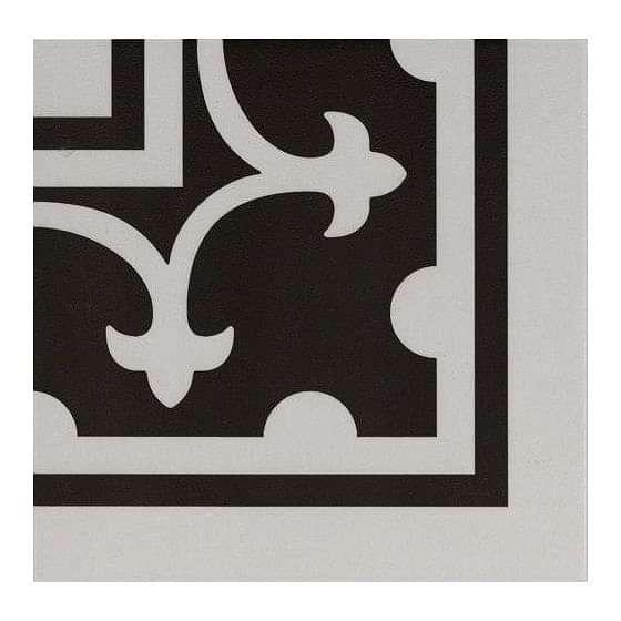 Pamplona Corner White on Black 200x200