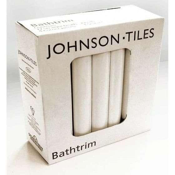 Johnsons Cristal PRG1 Ceramic Bath Seal Trim Set White Gloss