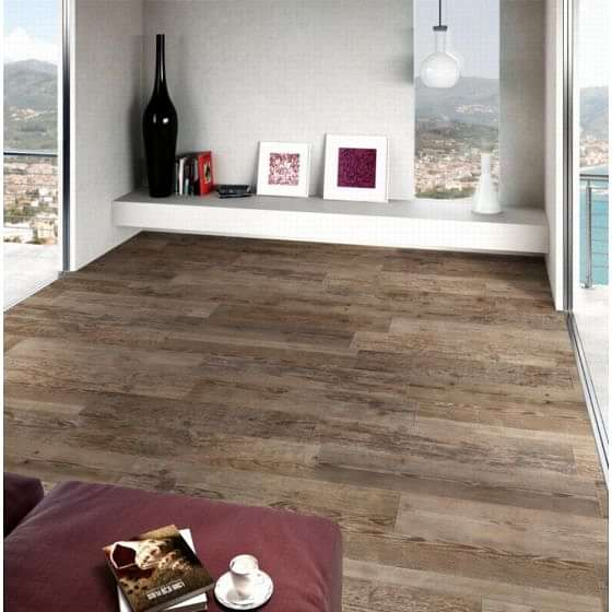 Sequoia Grip Dark Oak Wood Effect Tile