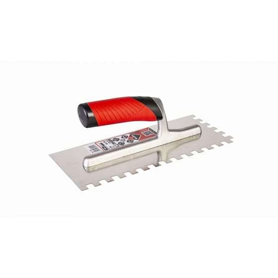 Rubi Square Notched Stainless Steel Trowel 10mm