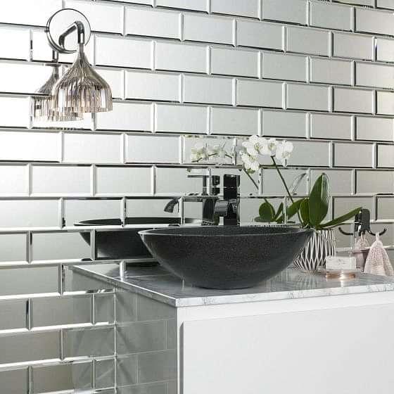 Luminere Bevel Mirror Brick Mosaics