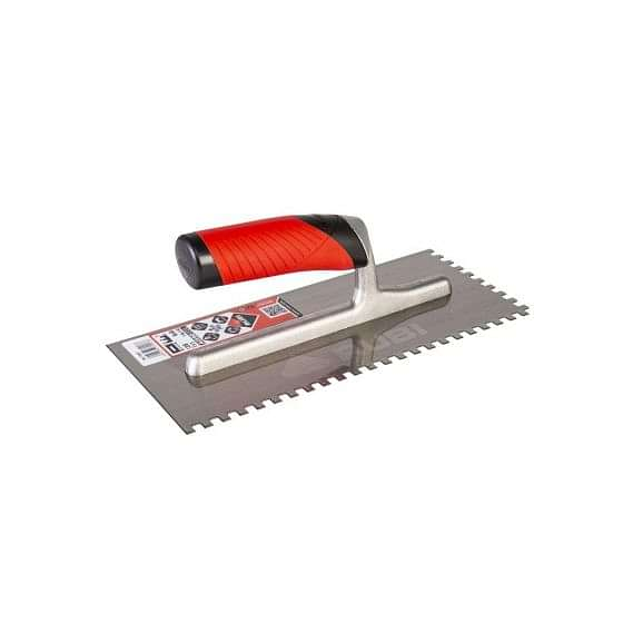 Rubi Square Notched Stainless Steel Trowel 6mm