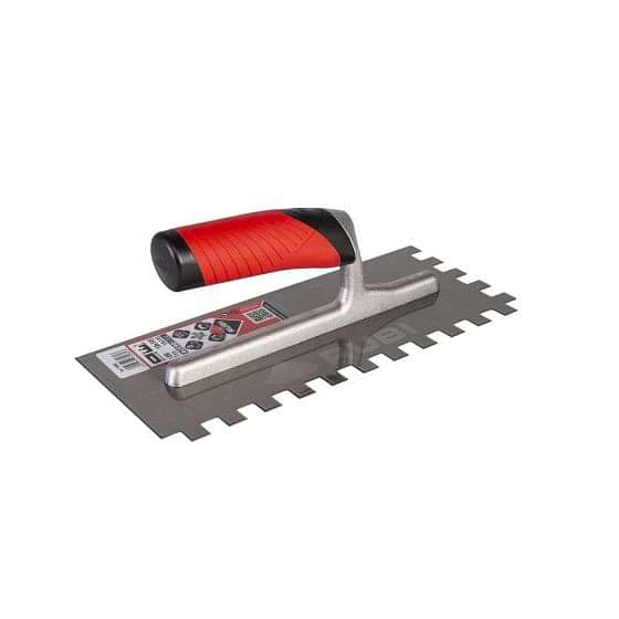 Rubi Square Notched Stainless Steel Trowel 12mm