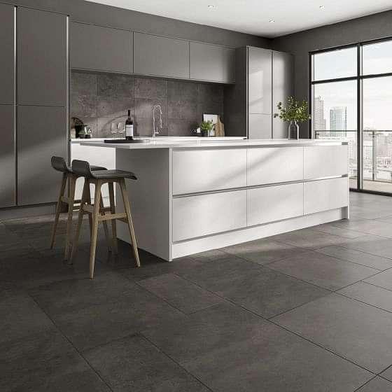 Tectonic Graphite Porcelain Tile 600x900