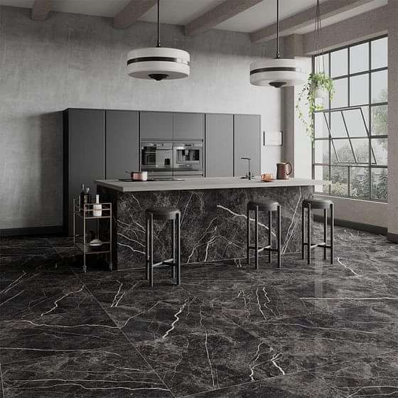 Bergamo Black Polished 900x900