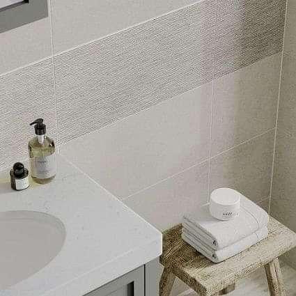 Horizon Light Grey Linear Decor 300x600