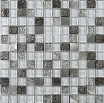 Verona Slate/Chrome Mix Mosaic
