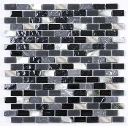 Black/Grey Pearl Mix