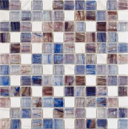 Marbles Blue Strip Glass