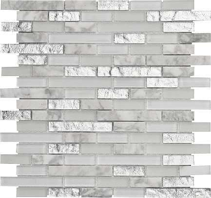 Avalon Silver Mix Random Mosaic