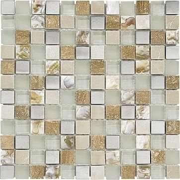 Freetown Cream Pearl Chrome 2.2 x 2.2 Mosaic