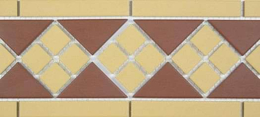 Clifton Border Red and Mustard 281x151