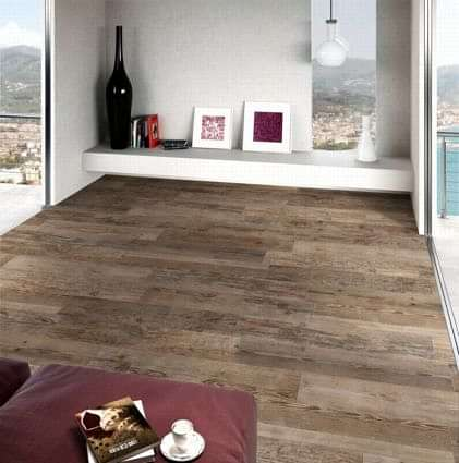 Sequoia Dark Oak (Brown) Wood Effect Tile