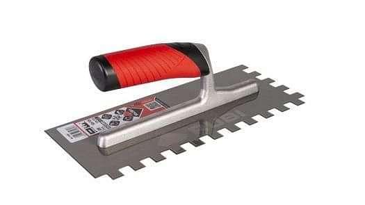 Rubi Square Notched Steel Trowel 12mm