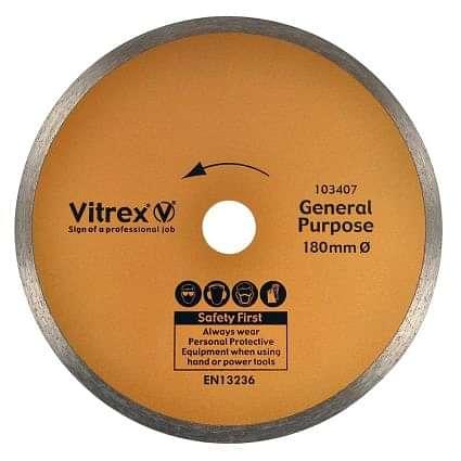 Vitrex Diamond Blade 180mm Standard