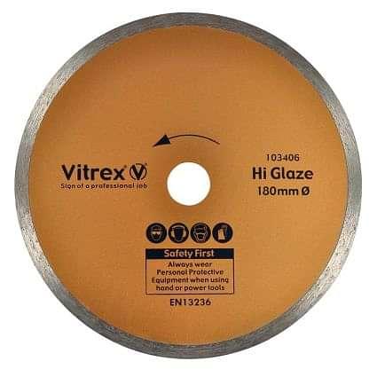 Vitrex Diamond Blade 180mm Hi-Glaze