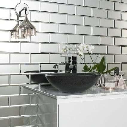 Lumiere Bevel Mirror Brick Mosaics