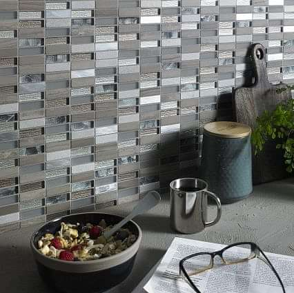 Heydon Beige Mix Stone/Glass/Metal Linear