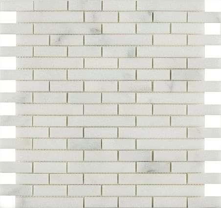 Carrara Marble Mix Length Mosaic