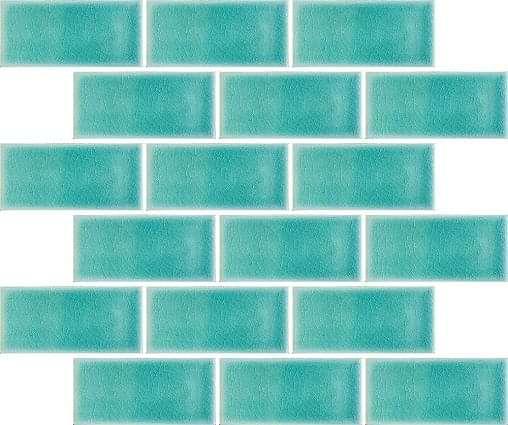Midi Metro Crackle Teal Mosaic