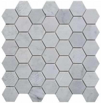 Carrara Marble Hexagon Mosaic