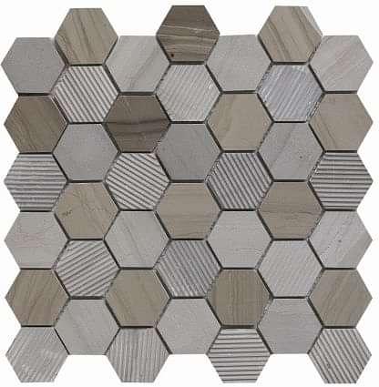 Cedar Marble Hexagon Mosaic