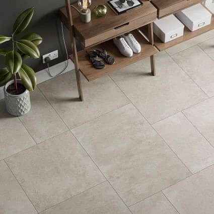 Tectonic White Porcelain Tile 600x900