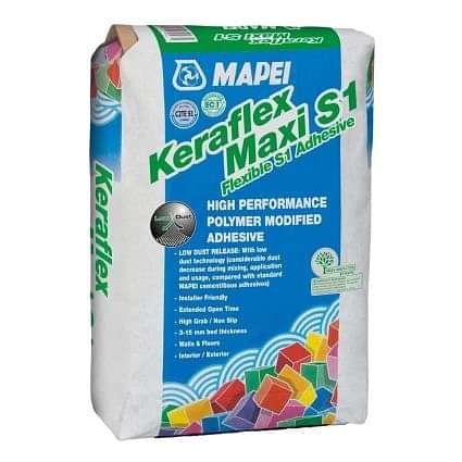 Mapei Keraflex Grey Flexible Wall & Floor Tile Adhesive 20kg