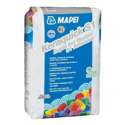 Mapei Keraquick White Flexible Wall & Floor Adhesive 20kg