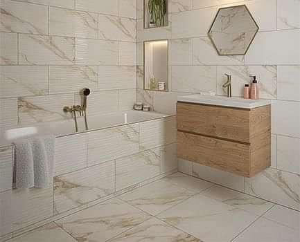 Amalfi Gold Polished Floor 600x600