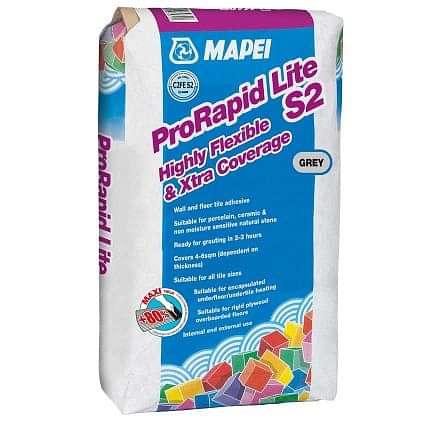 Mapei Pro Rapid Lite Grey Wall & Floor Tile Adhesive 12.5kg