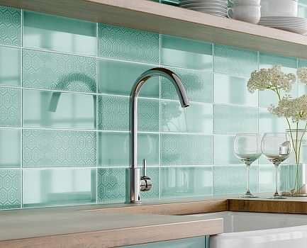 Serene Kitchen Wall Tile