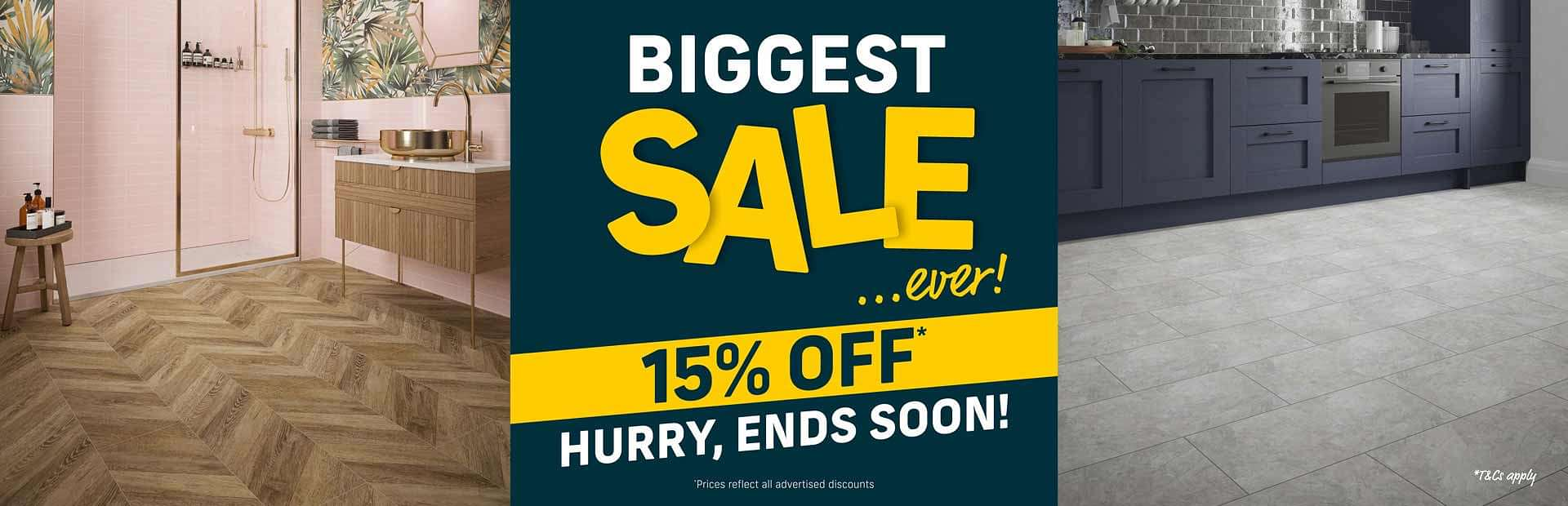 Intro Offer 15% Off All Flooring