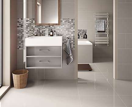 Cordova Porcelain Bathroom Floor Tile