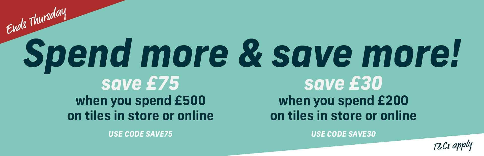 10% Off Tiles! 1 Day Flash Sale!