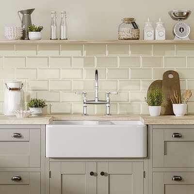 Metro Ivory Kitchen Roomset