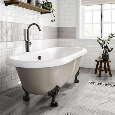 Metro White Tiles With Rowan Bathroom Roomset