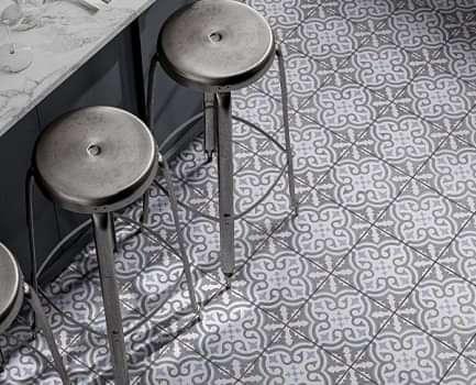 Ornamental Patterned Floor Tile
