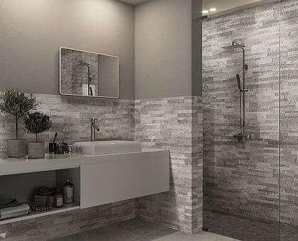 Pollino slate effect bathroom wall tile
