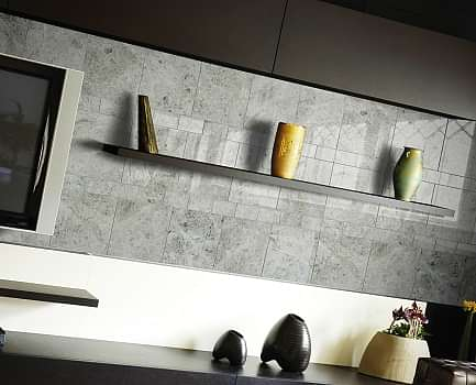 Silver Shadow Kitchen Wall Tile