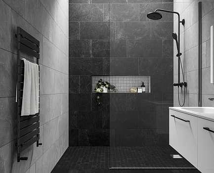 Slate Rock Bathroom Wall Tile