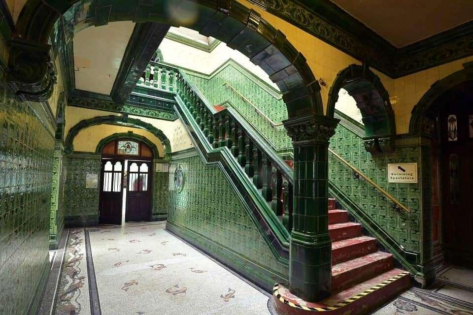 Victoria Baths Interior Stairway | Tilegiant.co.ukv