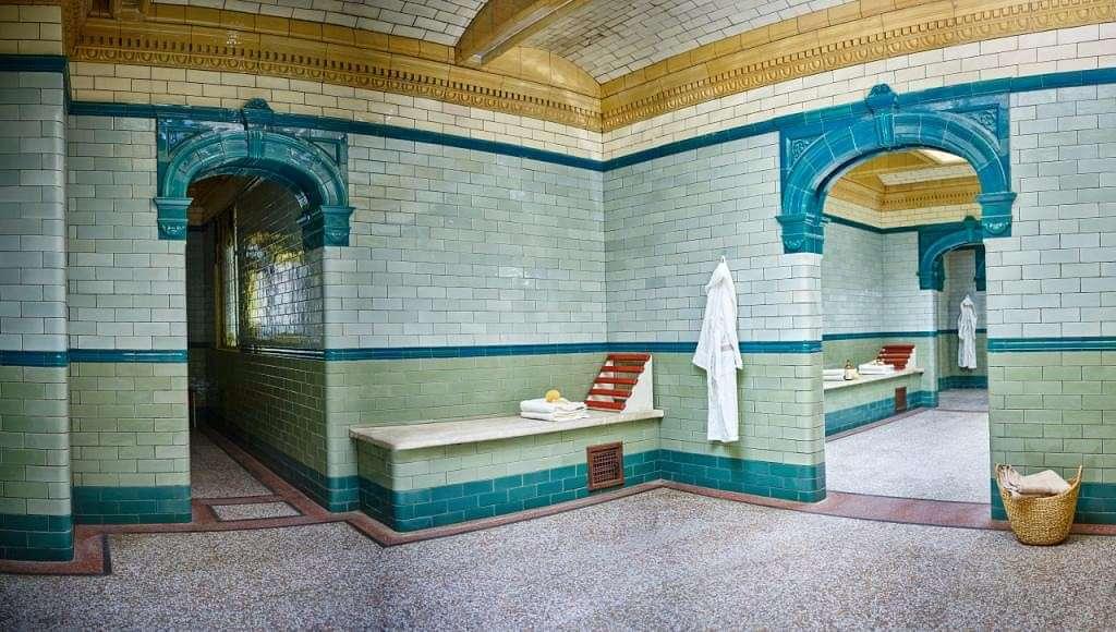 Victoria Baths Interior Stairway | Tilegiant.co.uk